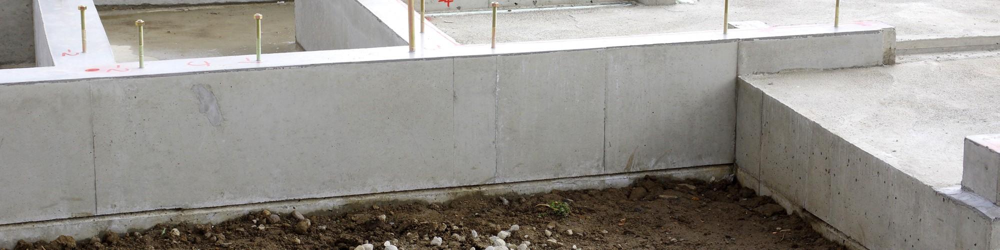 Foto Gründung mit Mauersockel