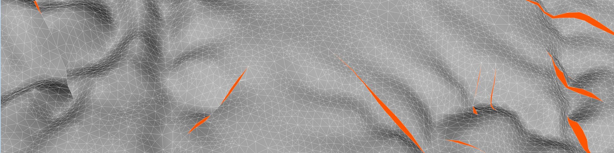 Bild: 3D-Geländemodell mit Störungen