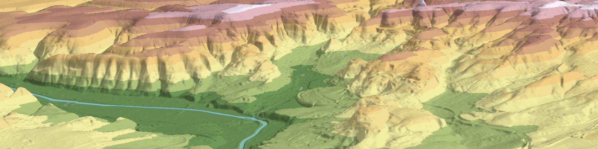 Bild: Digitales Geländemodell