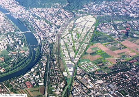 Luftbild Bahnstadt Heidelberg © Stadt Heidelberg